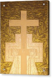 Take It To The Cross Silver Gold Acrylic Print by Daniel Henning