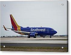 Take Off Southwest Airlines N7878a Hartsfield-jackson Atlanta International Airport Art Acrylic Print