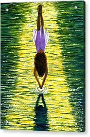 Take The Plunge Acrylic Print by Catherine G McElroy