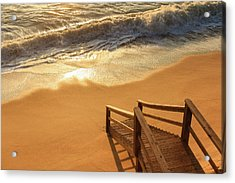Take The Stairs To The Waves Acrylic Print