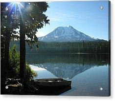 Takhlakh Lake Mt. Adams Acrylic Print by Mel Crist