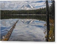 Takhlakh Lake With Mount Adams Acrylic Print