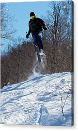 Acrylic Print featuring the photograph Taking Air On Mccauley Mountain by David Patterson