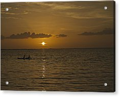 Taking In The Sunset Acrylic Print by Christin Walton
