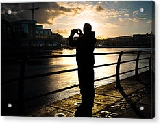 Taking Pictures - Dublin, Ireland - Color Street Photography Acrylic Print by Giuseppe Milo