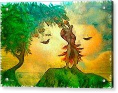 Taking The Fruit - Pa Acrylic Print by Leonardo Digenio
