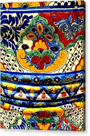 Talavera By Darian Day Acrylic Print by Mexicolors Art Photography