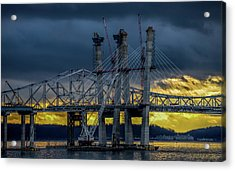 Tale Of 2 Bridges At Sunset Acrylic Print