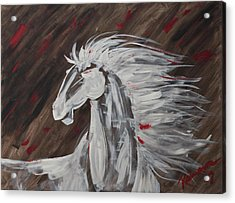 Tale Of The Wind Horse Acrylic Print by Stephane Trahan