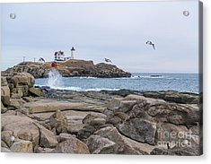 Tale Of Two Lighthouse Acrylic Print