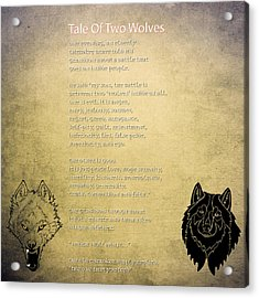 Tale Of Two Wolves - Art Of Stories Acrylic Print by Celestial Images