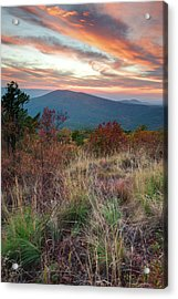 Acrylic Print featuring the photograph Talimena Fire In The Skies - Arkansas - Oklahoma by Gregory Ballos