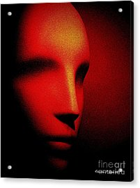 Talking Head Red Acrylic Print