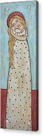 Tall Angel With Bird Acrylic Print