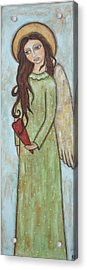 Tall Angel With Heart Acrylic Print