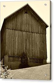 Tall Barn On Hillside Acrylic Print
