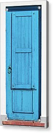 Tall Blue Door Acrylic Print by David Letts