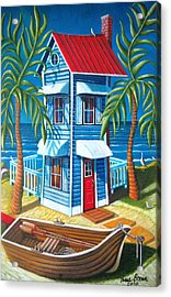 Tall Blue House Acrylic Print