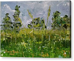 Acrylic Print featuring the painting Tall Grass by Judith Rhue
