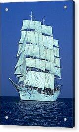 Tall Ship At Sea Acrylic Print by Kenneth Garrett