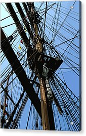 Tall Ship Design By John Foster Dyess Acrylic Print