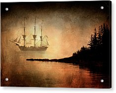 Tall Ship In The Fog Acrylic Print