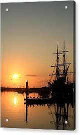 Tall Ship Lady Washington At Dawn Acrylic Print by Mike Coverdale