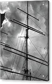 Tall Ship Masts Acrylic Print by Robert Ullmann