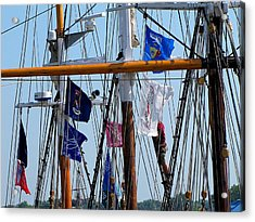 Tall Ship Series 15 Acrylic Print by Scott Hovind