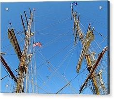 Tall Ship Series 16 Acrylic Print by Scott Hovind