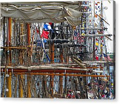 Tall Ship Series 4 Acrylic Print by Scott Hovind