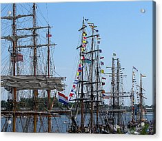 Tall Ship Series 9 Acrylic Print by Scott Hovind