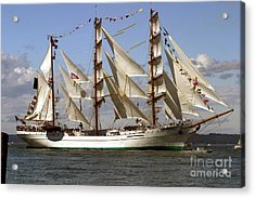 Tall Ship Acrylic Print by Robert  Torkomian