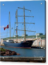 Acrylic Print featuring the photograph Tall Ship Waiting by RC DeWinter