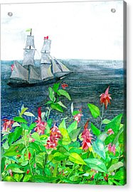 Tall Ships In Victoria Bc Acrylic Print