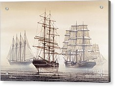 Tall Ships Acrylic Print by James Williamson