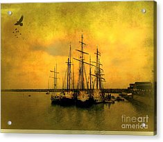 Tall Ships Of Dana Point Acrylic Print by Kevin Moore