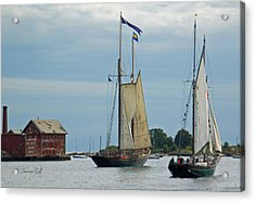 Tall Ships Sailing II Acrylic Print by Suzanne Gaff