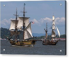 Tall Ships Square Off Acrylic Print