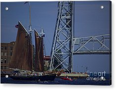 Tall Ships Acrylic Print by The Stone Age