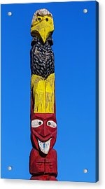 Tall Totem Pole Acrylic Print by Garry Gay