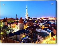 Acrylic Print featuring the photograph Tallinn by Fabrizio Troiani
