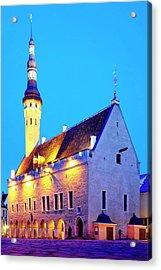 Acrylic Print featuring the photograph Tallinn Town Hall by Fabrizio Troiani