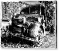 Tam Truck Black And White Acrylic Print by Marko Mitic