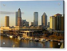 Tampa Bay And Gasparilla Acrylic Print by David Lee Thompson