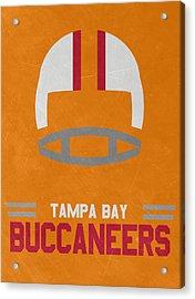 Tampa Bay Buccaneers Vintage Art Acrylic Print by Joe Hamilton