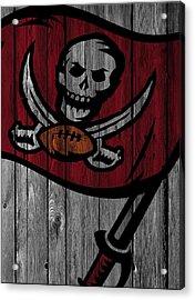 Tampa Bay Buccaneers Wood Fence Acrylic Print