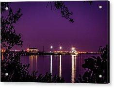 Tampa Bay Fishing Pier Acrylic Print