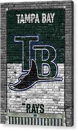 Tampa Bay Rays Brick Wall Acrylic Print by Joe Hamilton