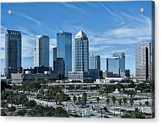 Acrylic Print featuring the photograph Tampa Bay Skyline by Linda Constant